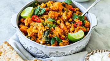 1 Pan Butternut Squash and Mixed Lentil Dahl