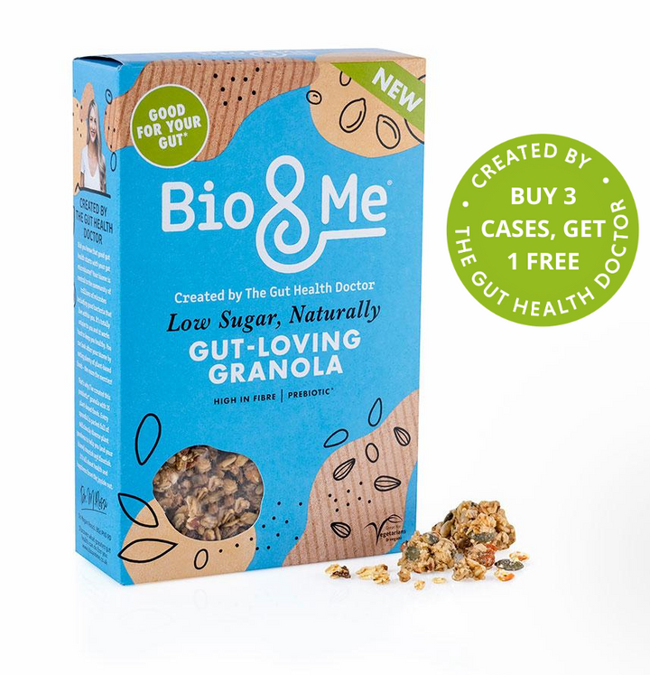 BIG VALUE 6-PACK OF Low Sugar, Naturally Gut-Loving Prebiotic* Granola (6 x 360g). TRADE