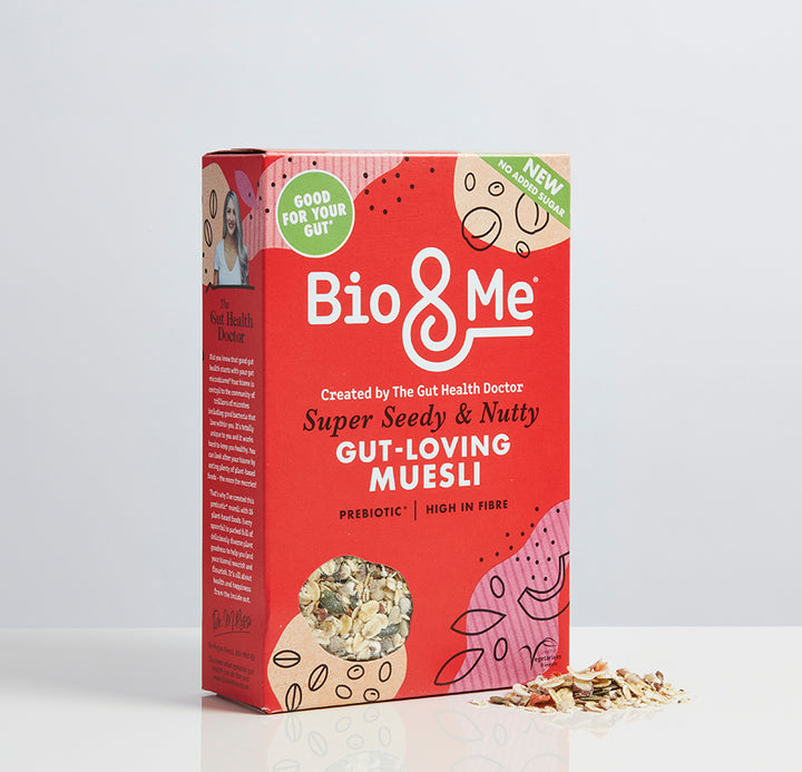 SUPER SEEDY & NUTTY GUT-LOVING PREBIOTIC* MUESLI (450g)