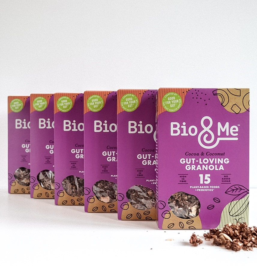 BIG VALUE 6-PACK OF COCOA & COCONUT GUT-LOVING PREBIOTIC* GRANOLA (6 x 360g). Just £3.67 per Pack.