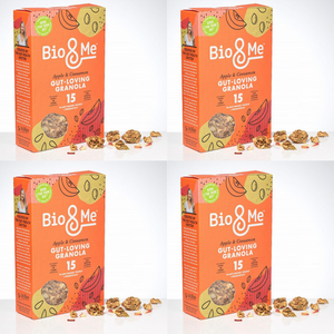4-Pack Bundle - Apple & Cinnamon Gut-Loving Prebiotic* Granola