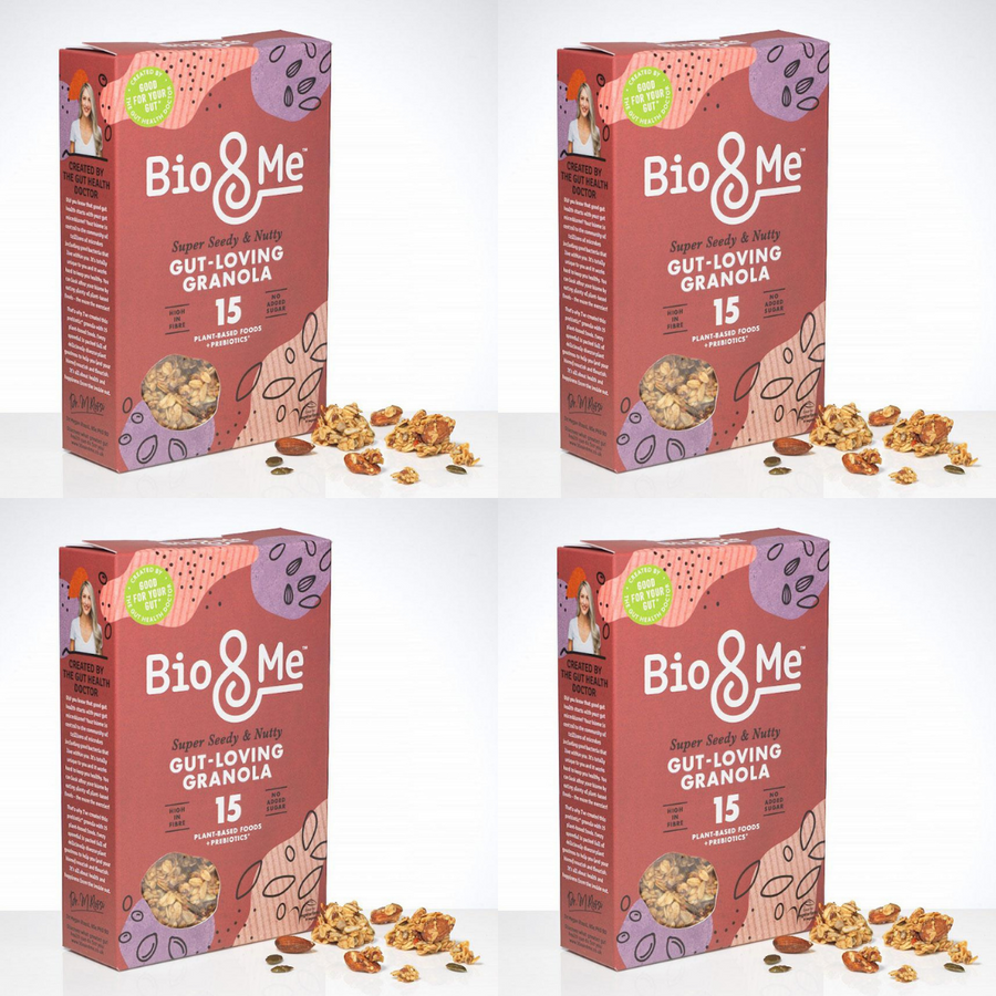 4-Pack Bundle - Super Seedy & Nutty Gut-Loving Prebiotic* Granola