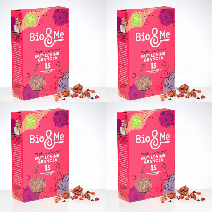 4-Pack Bundle - Raspberry & Beetroot Gut-Loving Prebiotic* Granola