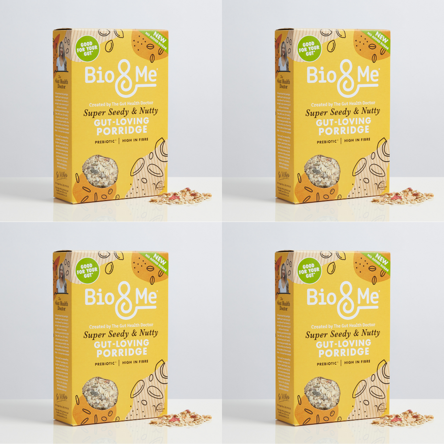 4-Pack Bundle - Super Seedy & Nutty Gut-Loving Prebiotic* Porridge