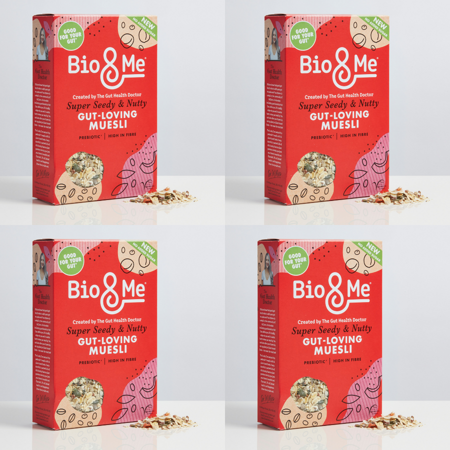4-Pack Bundle - Super Seedy & Nutty Gut-Loving Prebiotic* Muesli