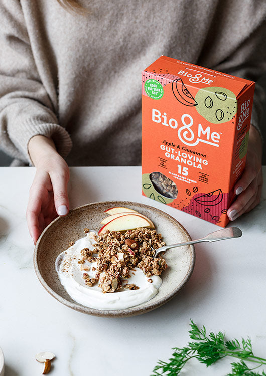 Bio&Me Gut-loving granola in apple and cinnamon flavour