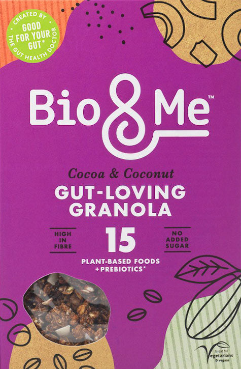 Bio&Me Gu t-loving granola in Cocoa and Coconut flavour