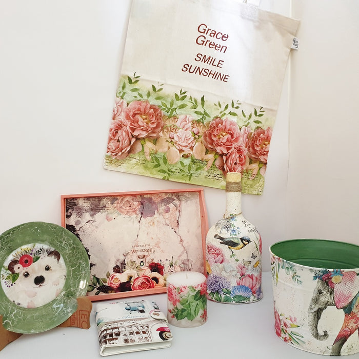 What materials can be used for decoupage?