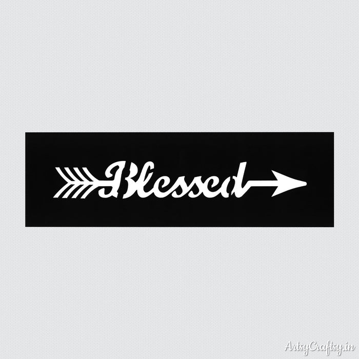 Blessed Arrow Sentiments Stencil