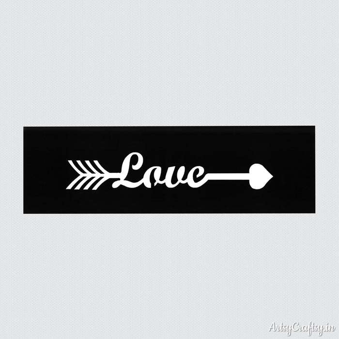 Love Arrow Sentiments Stencil