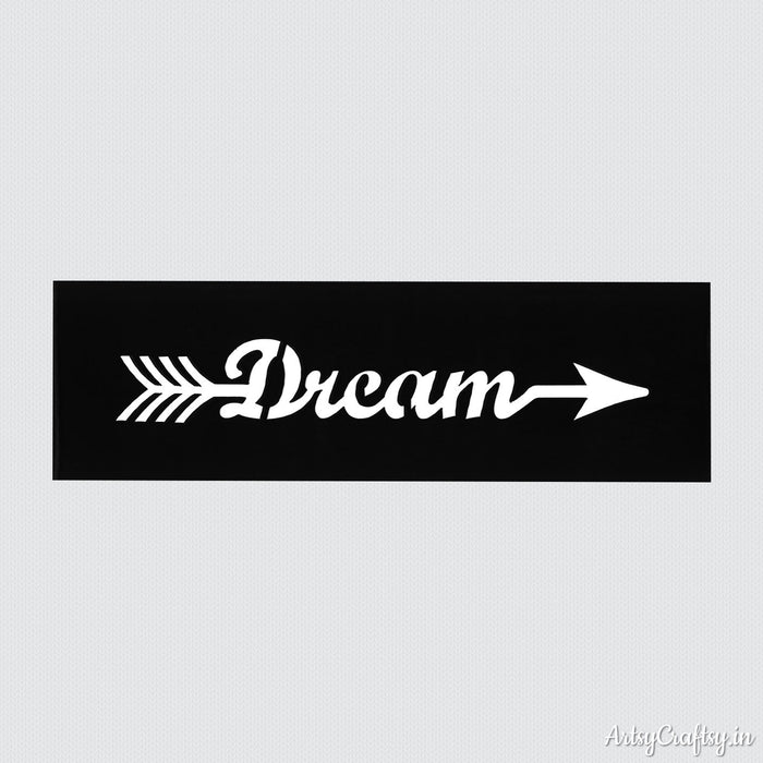 Dream Arrow Sentiments Stencil