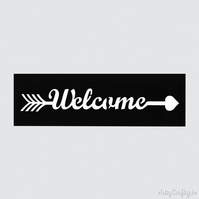 Welcome Arrow Sentiments Stencil