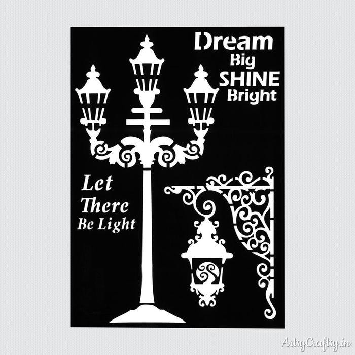 Dream Big Shine Bright Decor Stencil