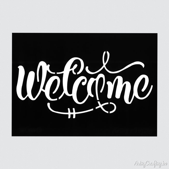 Welcome Sentiments Stencil