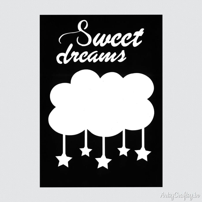 Sweet Dreams Decor Stencil