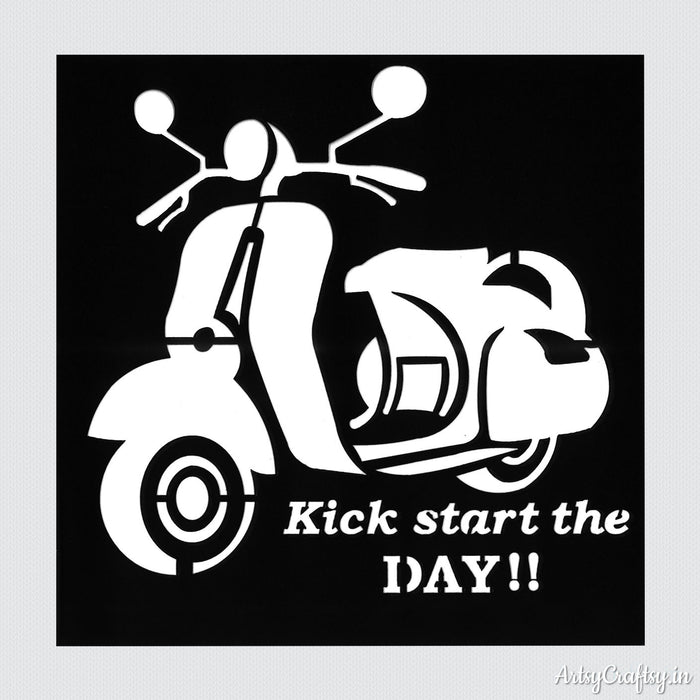 Kick Start The Day Decor Stencil