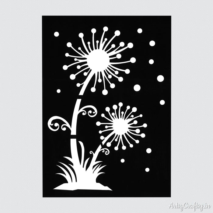 Bursting Crackers Decor Stencil