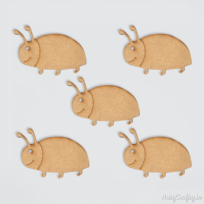Beetle MDF Embellishments (Set of 5)