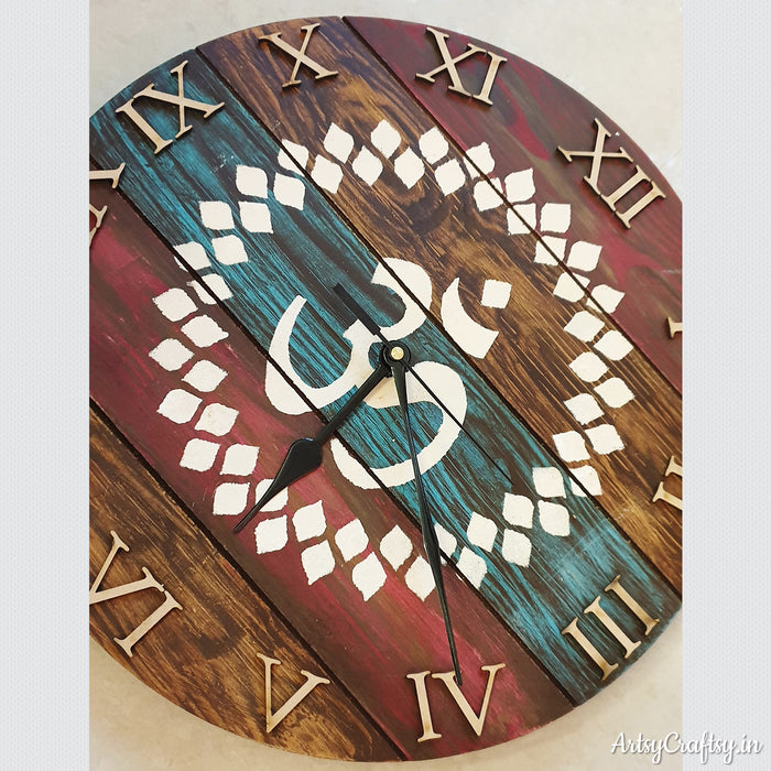 Home is Where The Heart is Handcrafted Clock
