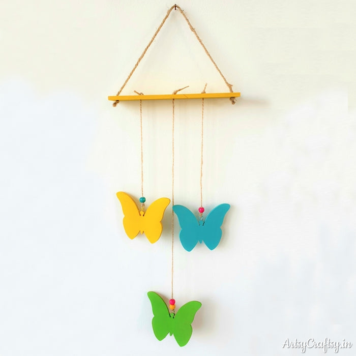 Three Butterfly Decorative Wall Hanging