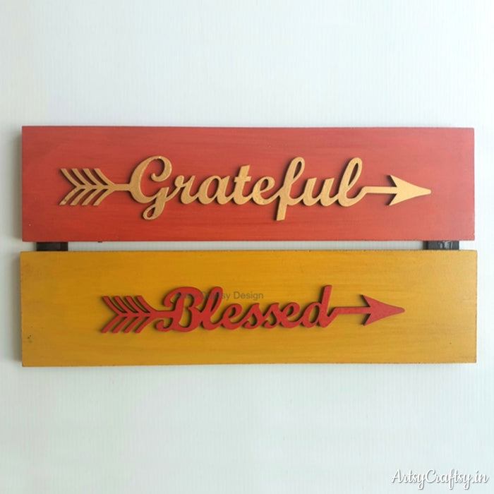 Grateful & Blessed Wall Decor
