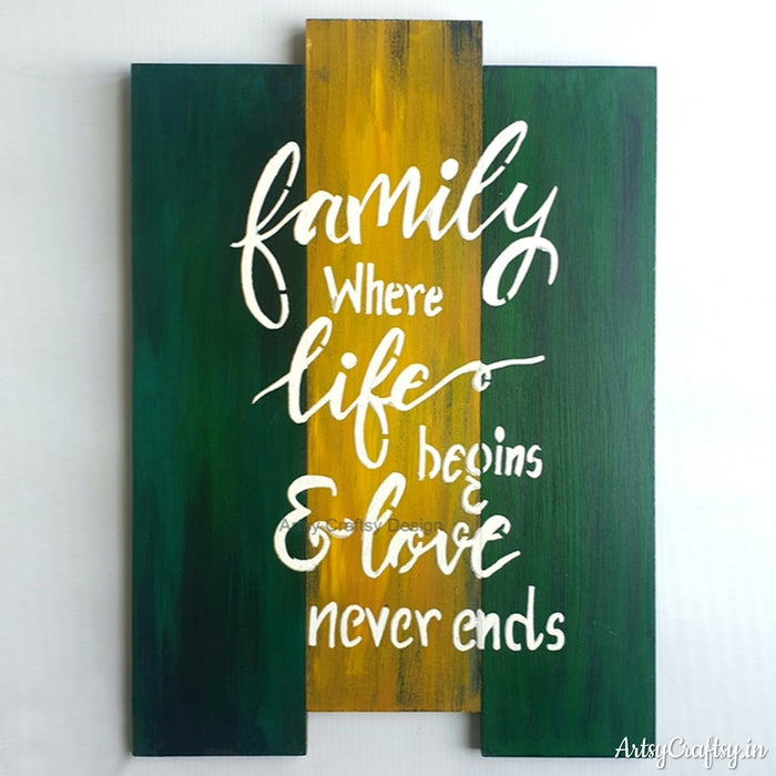 Family Where Life Begins & Love Never Ends Wall Decor