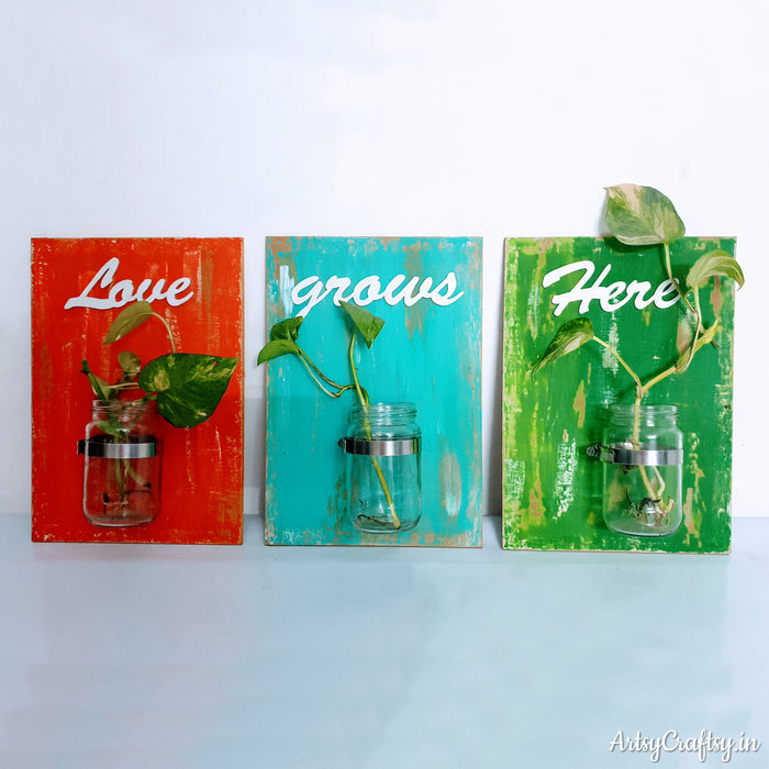 3-set Colourful Wall Hanging Decor with Jar