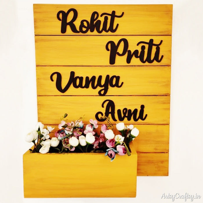 Handcrafted Nameplate with planter
