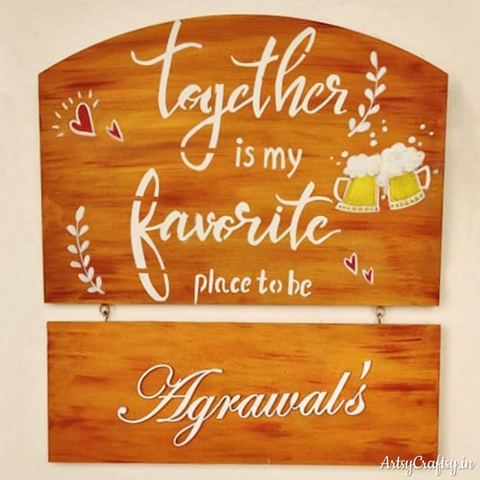 Together is My Favorite Place to Be Handcrafted Nameplate