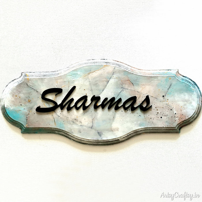Marble Finish Handcrafted Nameplate