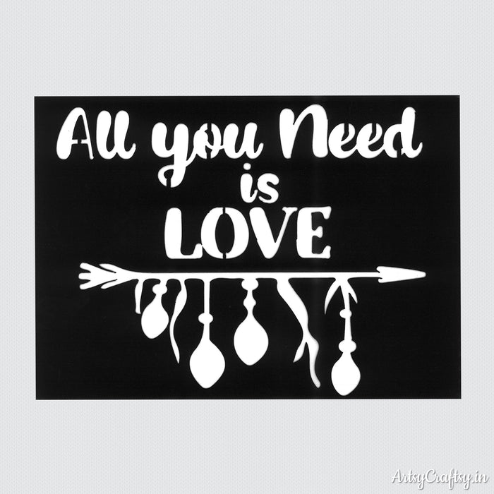 All You Need is Love Stencil