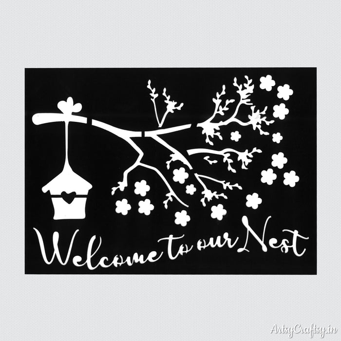 Welcome To Our Nest Sentiment Stencil