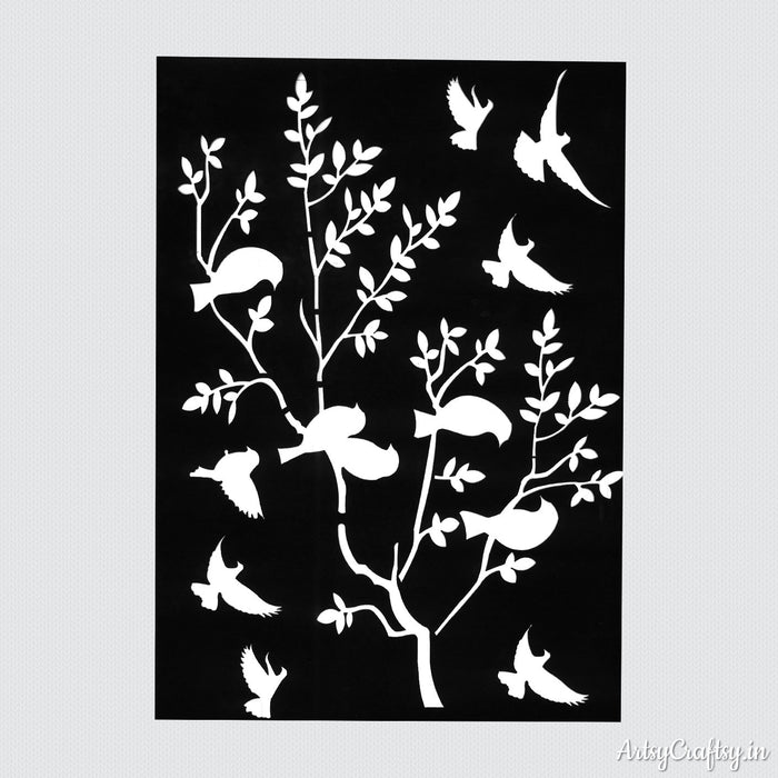 Tree Branch Design Stencil