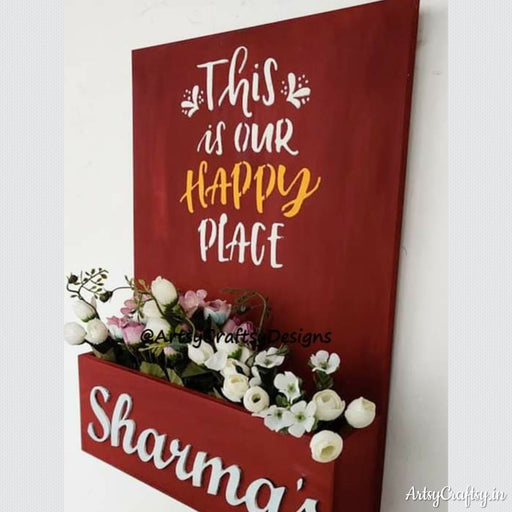 Handcrafted Planter Name Plate By Artsycraftsy Get Huge Options Of Home Decors