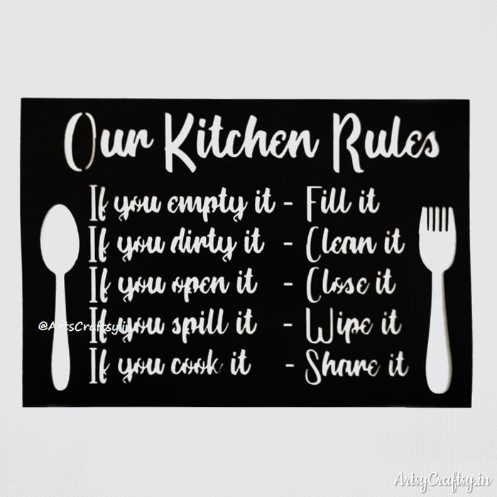 Kitchen Rules Stencil