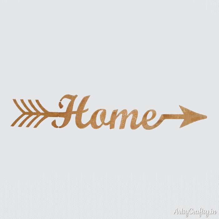 Home Arrow Word Coutout