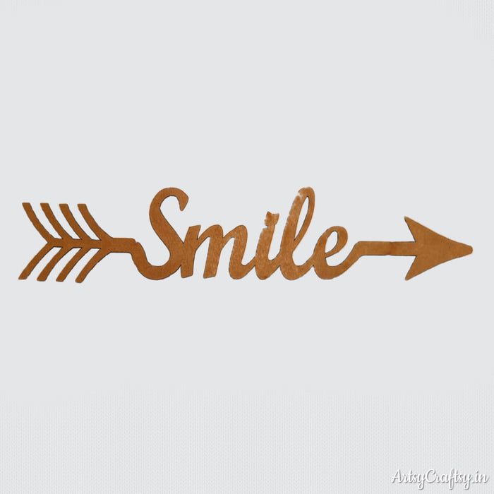 Smile Arrow Word MDF Cutout