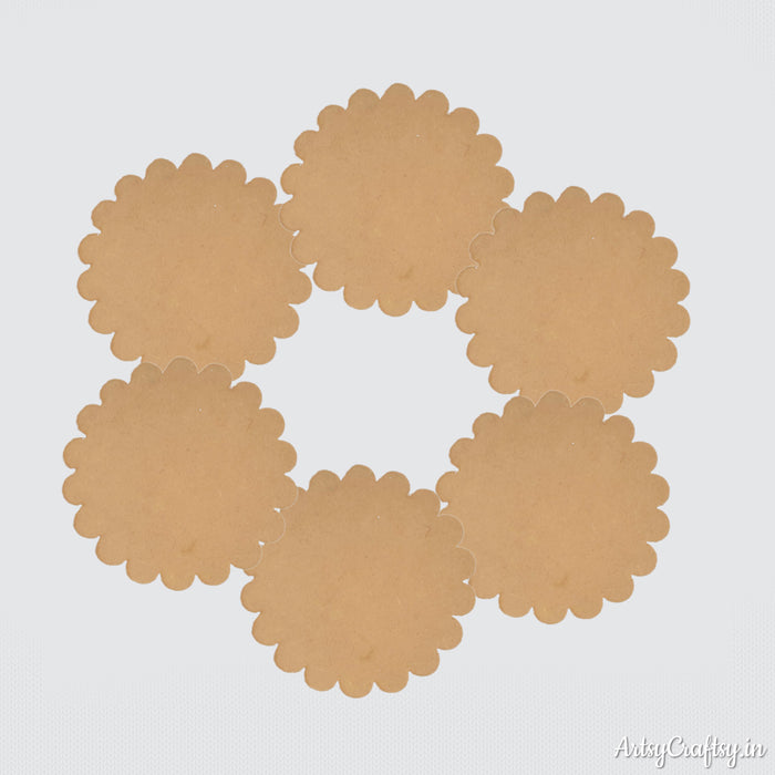 MDF Scallop Coaster (Set of 6)