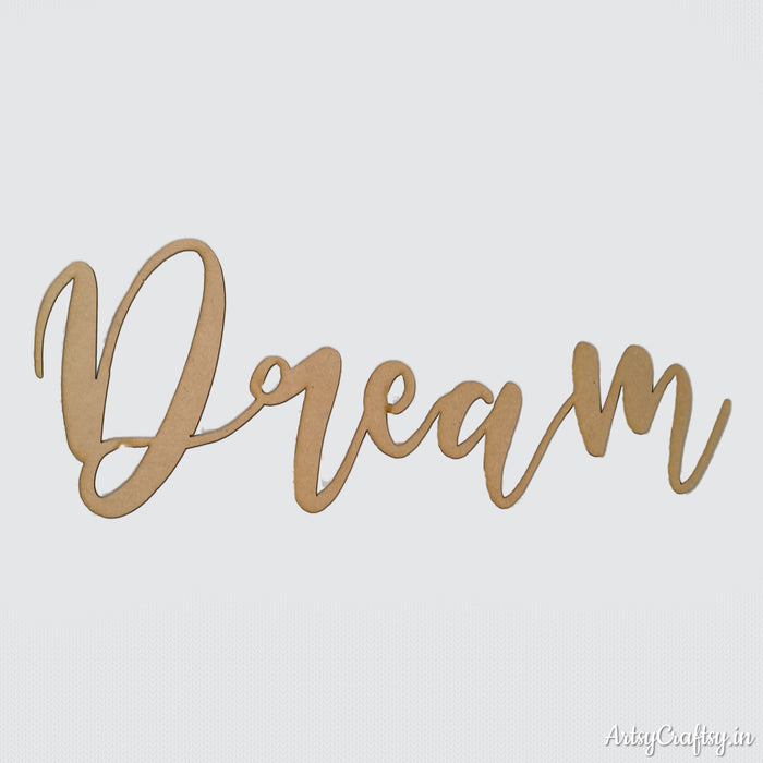 Dream MDF Sentiment cutout