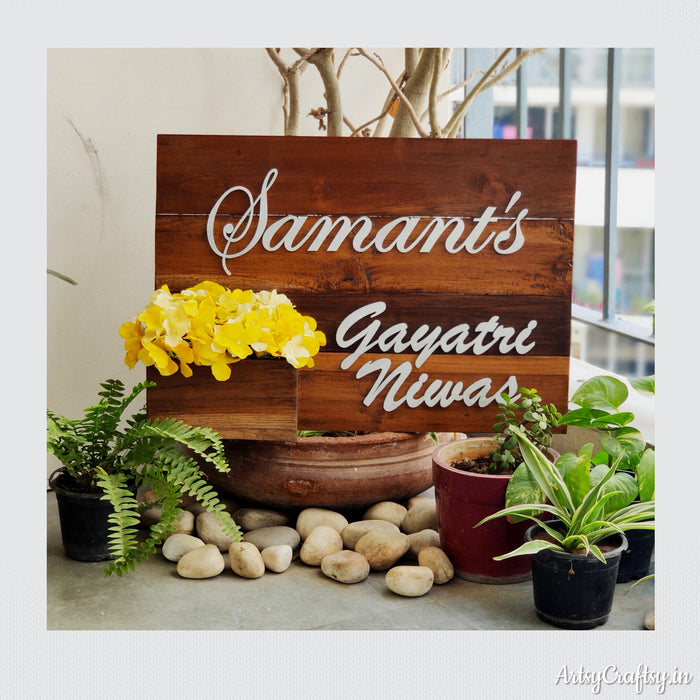 Personalized Nameplate (Sangwan wood)