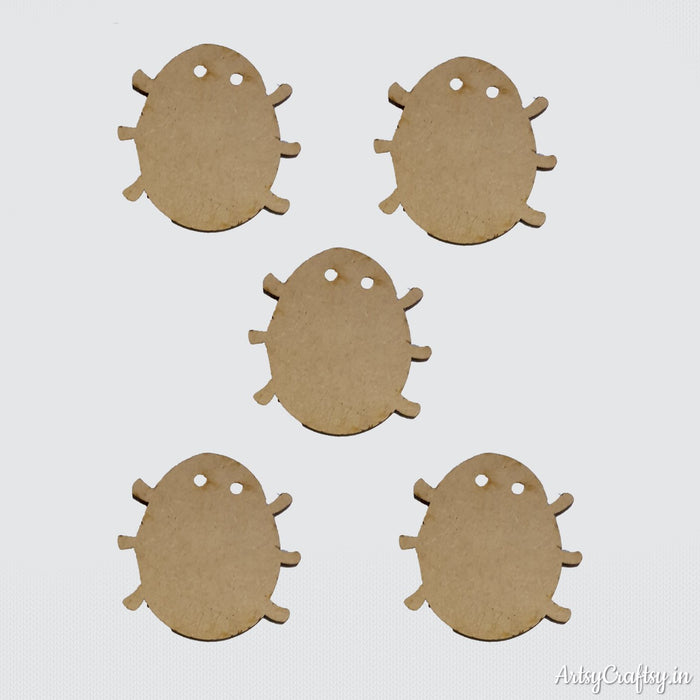 Caterpillar Mdf embellishment ( set of 5 )