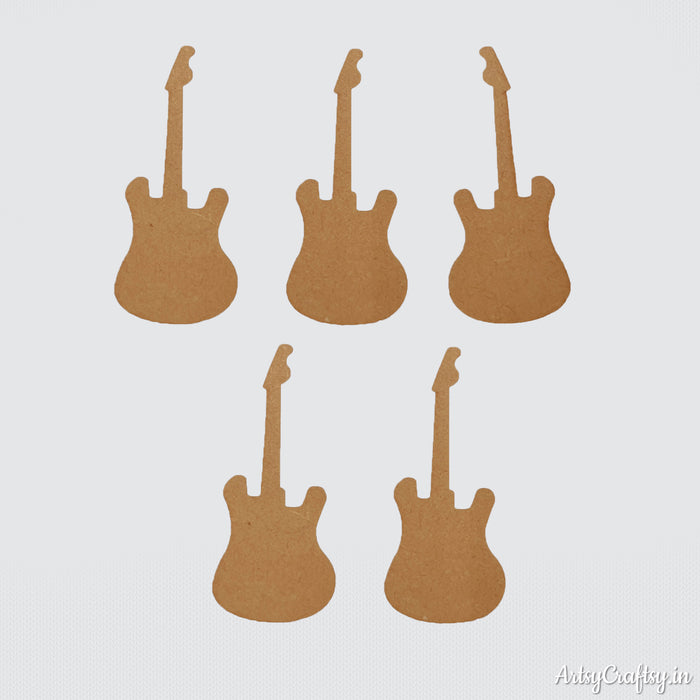 Guitar MDF Embellishment (Set of 5)