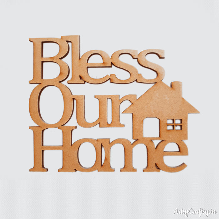 Bless our home cutout big