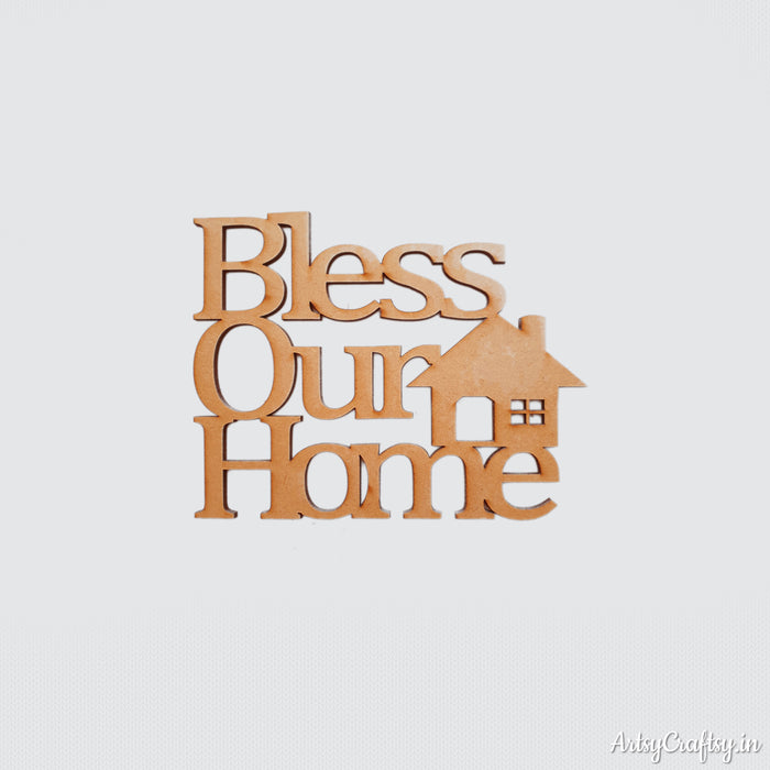 Bless our home cutout small