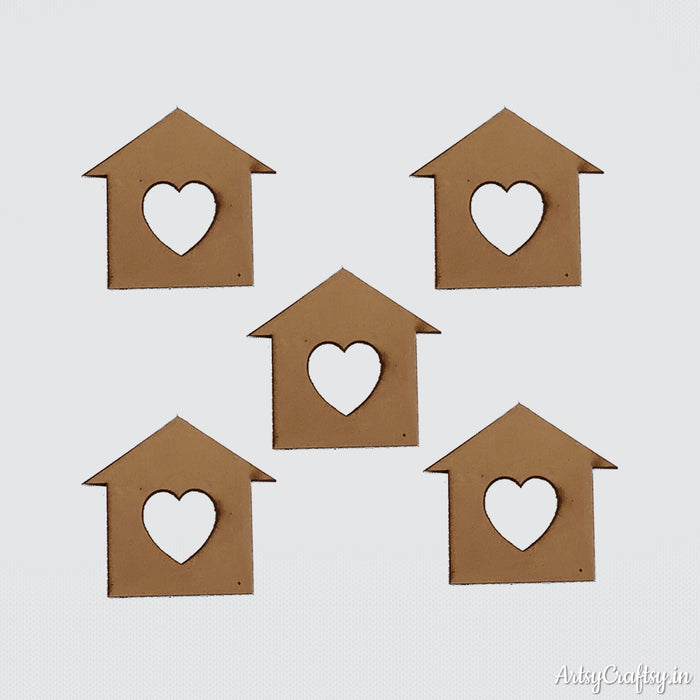 House Heart Embellishment (Set of 5)