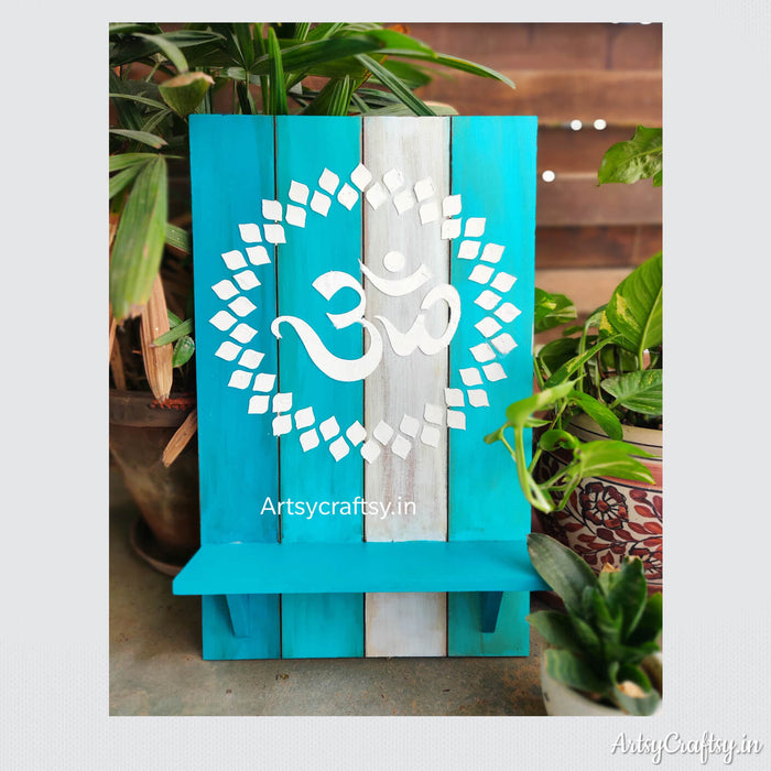 Om wall shelf decor