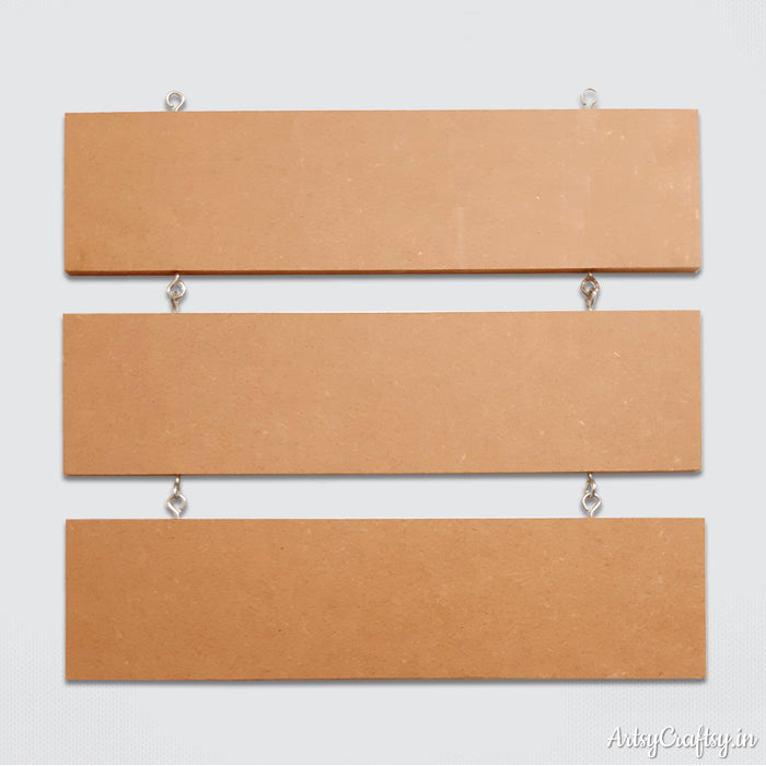 Nameplate three plank MDF