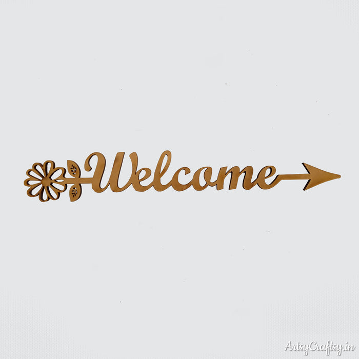 Welcome Arrow Word Sentiment Cutout
