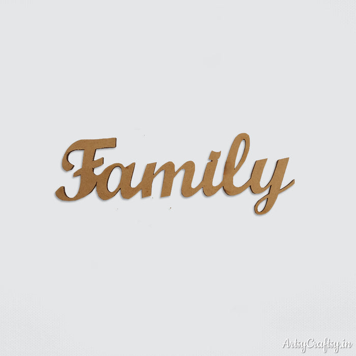 Family Sentiment cutout
