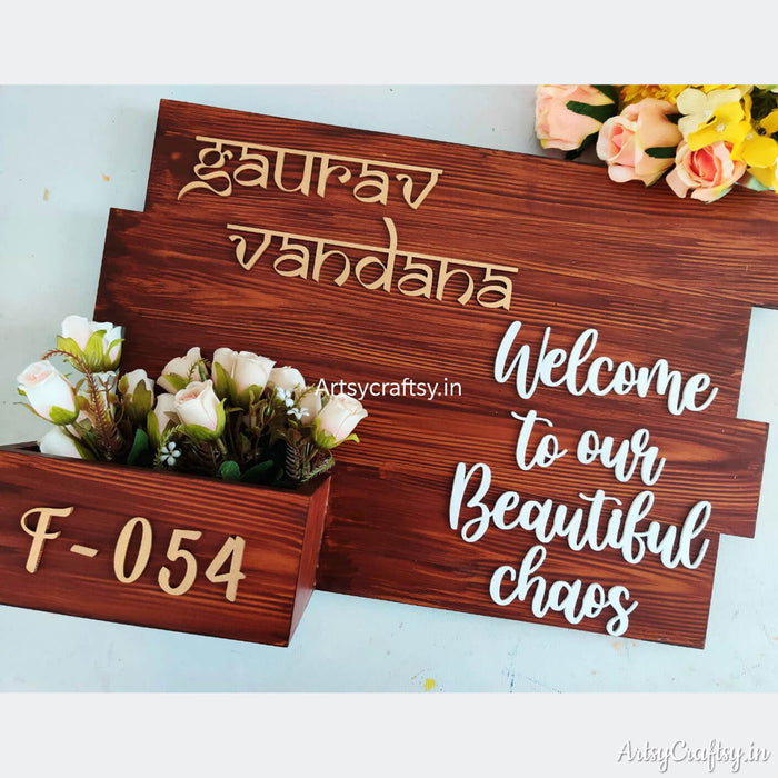 Personalized Nameplate with planter